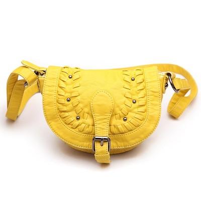 Shine Yellow Luxanne Cross Body Bag