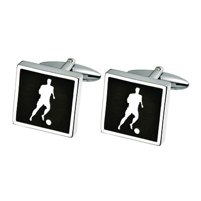 SOCCER PLAYER CUFF LINKS