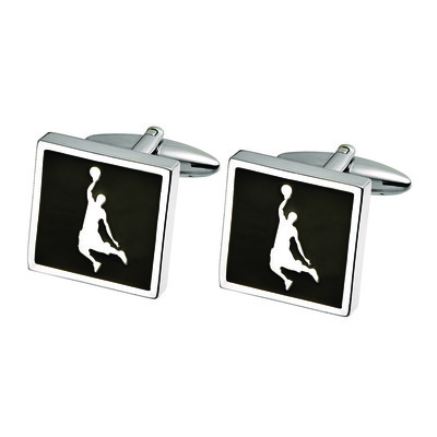 BASKETBALL PLAYER CUFF LINKS