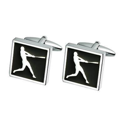 BASEBALL PLAYER CUFF LINKS