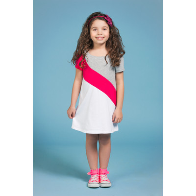 Gidget Loves Milo Roller Girl 1-Piece Colour Block Cotton Dress