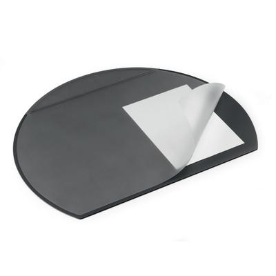 Durable Semi Circular Desk Mat Black