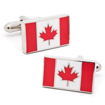 Cufflinks of Canadian Flag