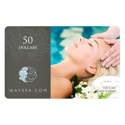 WaySpa Giftcard - $50.00