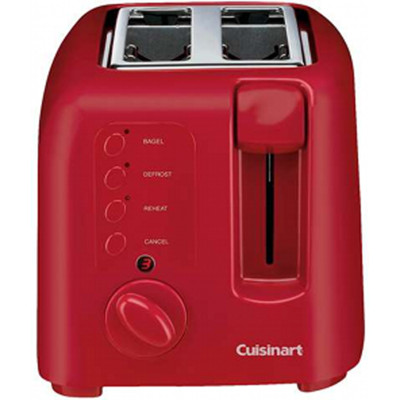 Refurbished-CUISINART CPT120 COMPACT 2SL TOASTER, RED-Manufacturer Recertified with 90 days Warranty