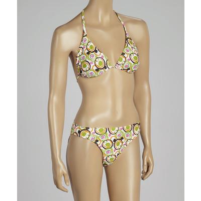 Circle design triangle bikini