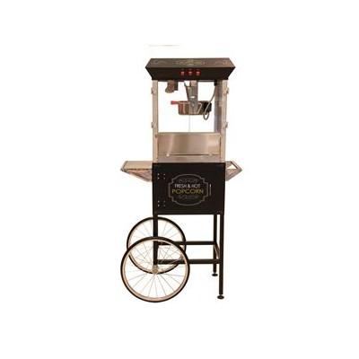 Popcorn machine 8oz with cart  Black