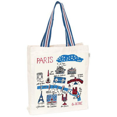 UK design fair trade tote - Paris
