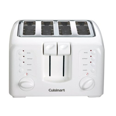CUISINART CPT140C, COMPACT 4 SLICE TOATER, WHITE