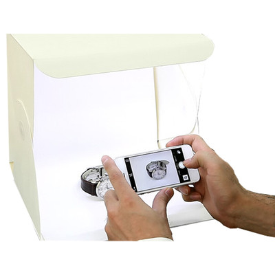 FOLDIO PLASTIC FOLDABLE STUDIO  W/2 LED LIGHT STRIPS