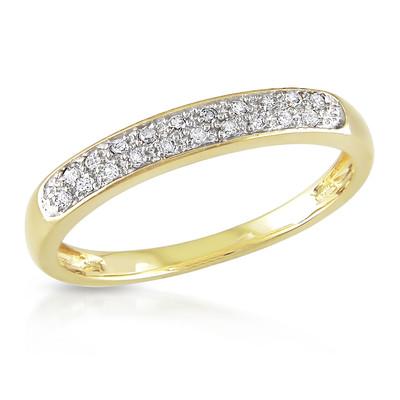 1/10 CT TW Diamond Anniversary Ring in 10k Yellow Gold