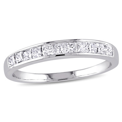 Amour Collection 14K White Gold Diamond Anniversary Ring (.50 Cttw, G-H Color, I1 Clarity)
