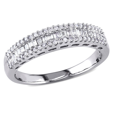 Amour Collection 14K White Gold Diamond Eternity Ring (.3 Cttw, G-H Color, I2-I3 Clarity)