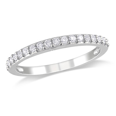 Amour Collection 10K White Gold Diamond Stacked Ring (.24 Cttw, G-H Color, I2-I3 Clarity)