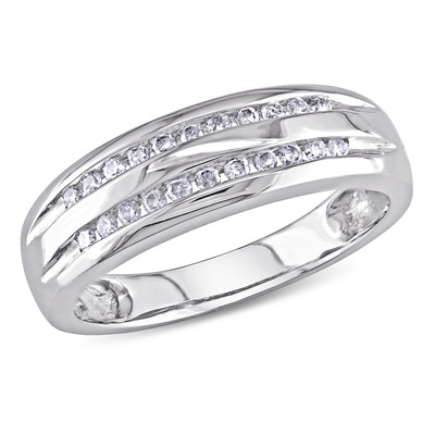 Amour Collection 10K White Gold Diamond Ring (.18 Cttw, G-H Color, I2-I3 Clarity)