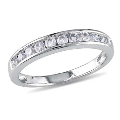 Amour Collection 10K White Gold Diamond Eternity Ring (.5 Cttw, G-H Color, I2-I3 Clarity)