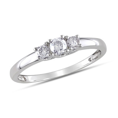 1/4 CT TW 3-Stone Diamond Engagement Ring in 10k White Gold