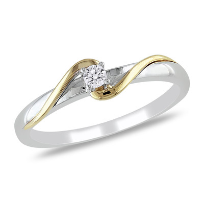 Amour Collection 10K Two-tone Gold Diamond Promise Ring (0.06 Cttw, G-H Color, I2-I3 Clarity)