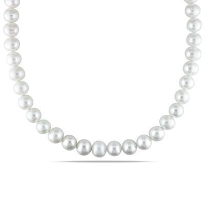 10 - 11 MM Freshwater Cultured Pearl Strand with Sterling Silver Ball Clasp