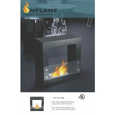 NFLAME Freestanding Ethanol Fireplace:  Model NF-010S