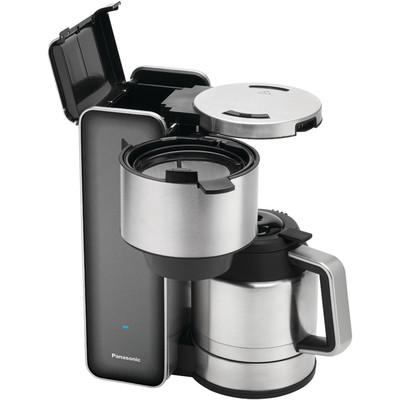 Panasonic-Refurbished Stainless Steel Coffee Maker in Smoke, Manufacturer Recertified with 90 days warranty