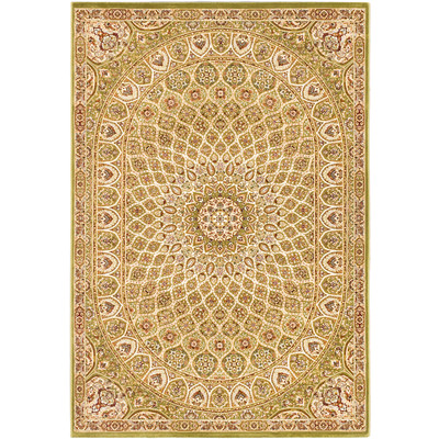 "eCarpetGallery Power Loomed Persia Isfahan Light Green Rug - 5'3"" x 7'7"""