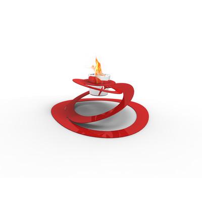 Ovia Bio Ethanol Indoor/Outdoor Fireburner In Red
