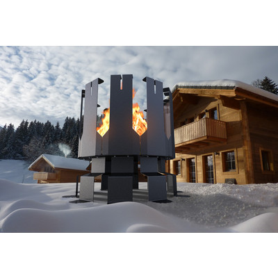 Ion Large Outdoor Firepit in Gunmetal Grey