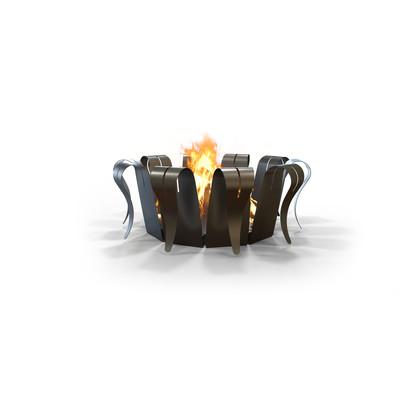 Folia Large Outdoor Firepit in Gunmetal Grey