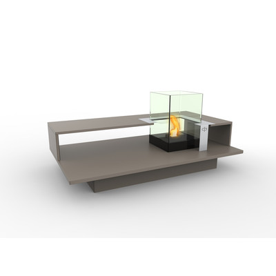 Level Indoor Bio Ethanol Coffee Table Fireburner In Latte