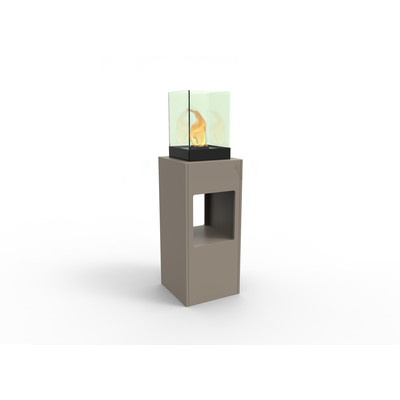 Vertikal Bio Ethanol Fireburner Stand and Display Unit In Latte