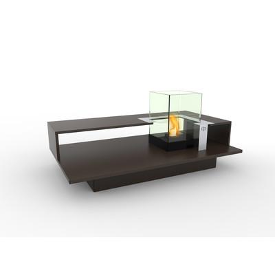 Level Indoor Bio Ethanol Coffee Table Fireburner In Espresso