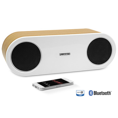 Fluance FI30 High Performance Wireless Bluetooth Wood Speaker System with aptX Enhanced Audio-Bamboo (061783260487)