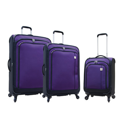 Samboro Feather Lite Spinners Luggage - 3 Piece Set (Purple Color)