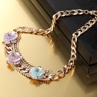 14K Gold Plated Multi-Chain Choker Necklace