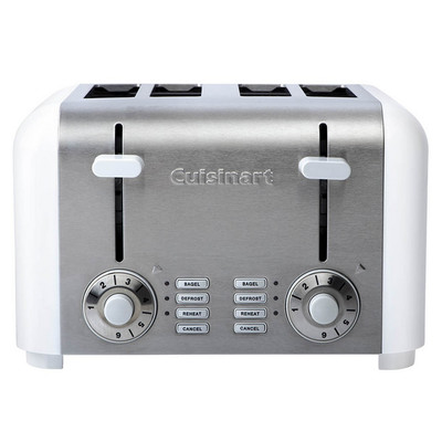Cuisinart 4-Slice Compact Stainless Toaster, CPT-340WC