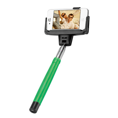 AViiQ extendable Bluetooth selfie wand - Green