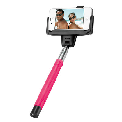 AViiQ extendable Bluetooth selfie wand - Pink