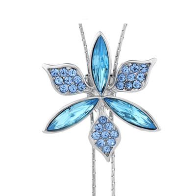 14K Gold Plated Auden Crystals 108 CM Long Star Pendant