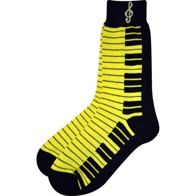 Neon Yellow and Black Keyboard Socks - Aim - 10001C