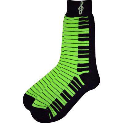 Neon Green and Black Keyboard Socks - Aim - 10001D
