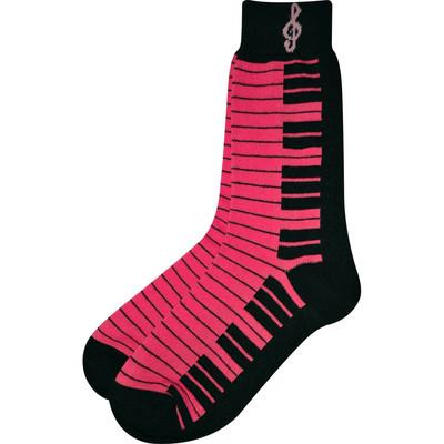 Neon Pink and Black Keyboard Socks - Aim - 10001E