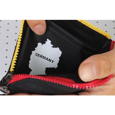 BM WORKS Road Wallet ZIP Mini Germany Edition - Slim and Light Artificial Perforated Leather Zipper Wallet, Cycling Wallet