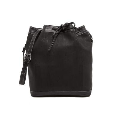 CORK LADIES DRAWSTRING BUCKET BAG IN BLACK CORK - TRISHA