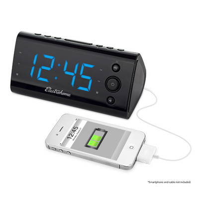 Electrohome Alarm Clock Radio with USB Charging for Smartphones & Tablets  (061783260548)