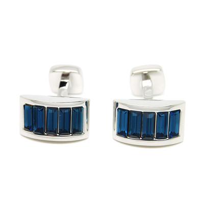 Romance Navy Blue Crystal Cufflinks