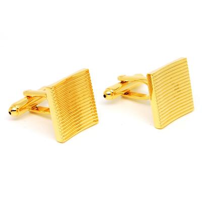Gold Copper Alloy Metal Cufflinks