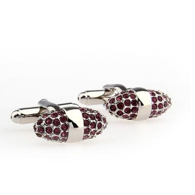 Oval Purple Diamond Cufflinks