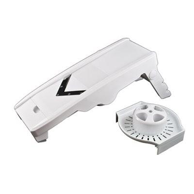 The Factory Heavy Duty V Mandoline (5 blades) - White