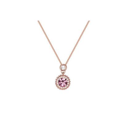 Lumax Swarovski Rose Gold Plated Pave Pendant.